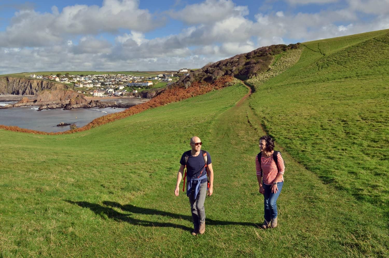 Walking near Hope Cove