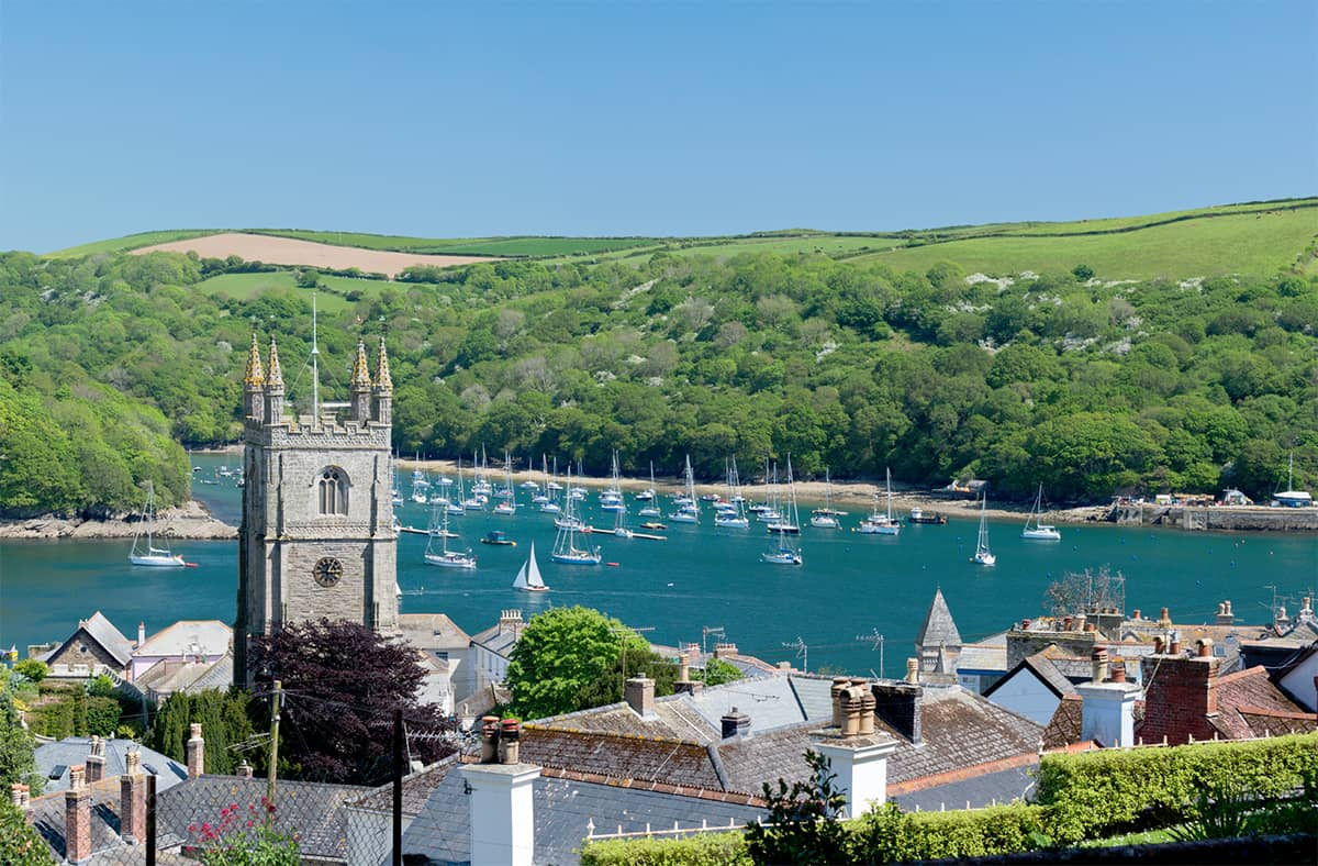The pretty town of Fowey