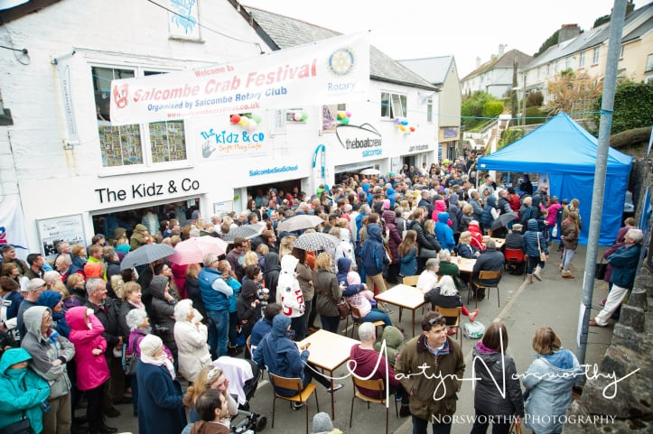Crowds gather at the Salcombe Crab Festival