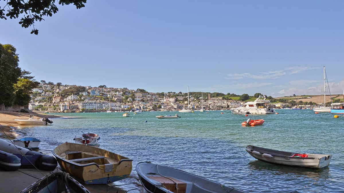 view of Salcombe town from East Portlemouth