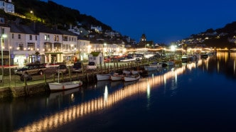 Looe_Harbour_night