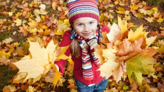 leaves-girl-new-forest